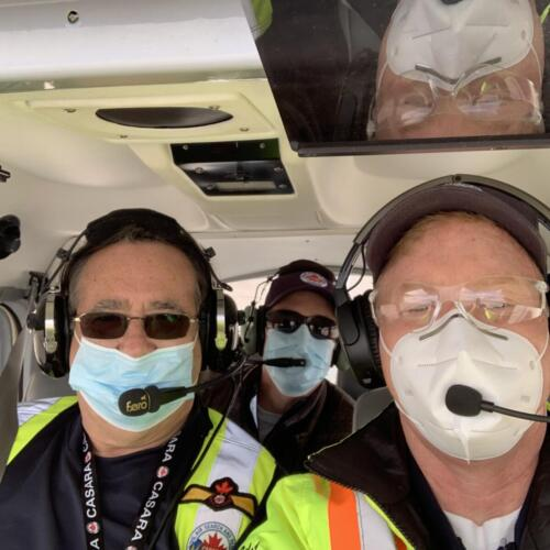 Only training with a 3-person crew...all wearing masks, gloves and safety eye protection
